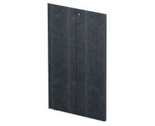 Jeu de porte bois noir étagère mi-haute FLORA, largeur : 80 cm