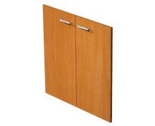 Jeu de portes étagère basse blanc avec serrure ELEA, largeur : 80 cm