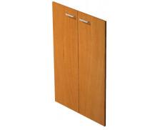 Jeu de portes étagère mi-haute noir ELEA, largeur : 80 cm