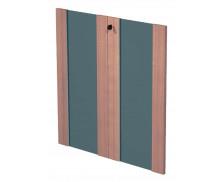 FLORA Jeu de portes en verre pour étagère basse finition noyer