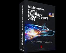 Logiciel Total Security multi-device 2016 - BITDEFENDER - 5 postes - 2 ans