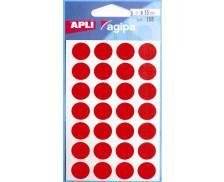 168 Pastilles - AGIPA - Diam. 15mm - Rouge