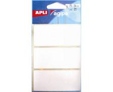 20 Etiquettes - AGIPA - 75x34mm - Blanc