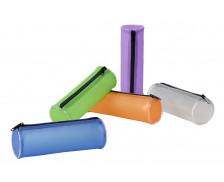 Trousse ronde en plastique transparent - VIQUEL - 1 compartiment - violet