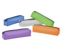 Trousse rectangulaire en plastique transparent - VIQUEL - 1 compartiment - violet