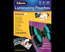100 Pochettes de Plastification Brillantes FELLOWES A3 - 80 Microns