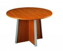 Table de réunion ronde diam 120 cm - MAMBO -  Finition Poirier / Gris