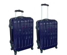 Lot de 2 valises en ABS de 60 à 70 cm - Bleu